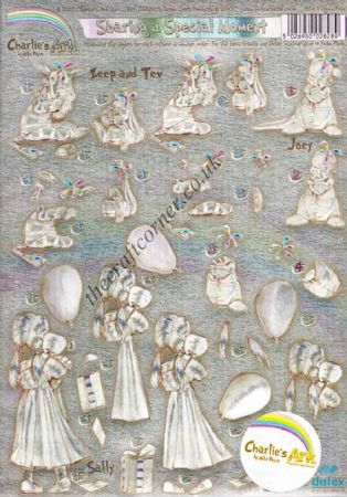 Charlie's Ark Sharing a Special Moment Die Cut Dufex 3d Decoupage Sheet
